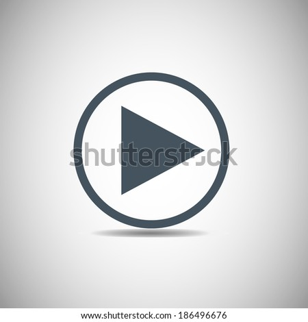 Vector icon Play button web icon,  - stock vector