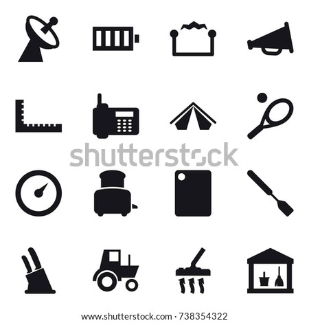 Vector White Line Mining Icons Set 489713350