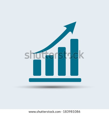 Vector illustration  icon growth diagram