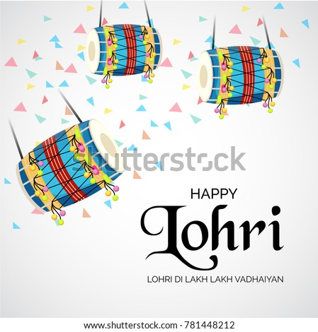 Stock images royalty free images vectors shutterstock vector illustration of a banner for happy lohri with punjabi message lohri di lakh lakh vadhaiyan malvernweather Choice Image