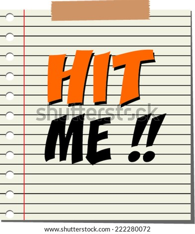 vector illustration of a hit me