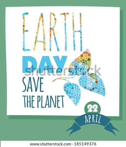 vector illustration of earth day - stock vector