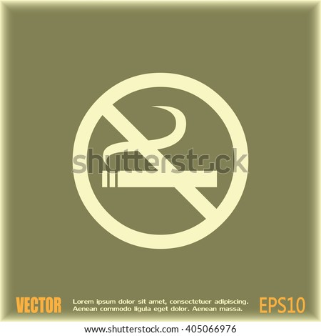 Vector illustration of the restricted area sign no smoking  - stock vector