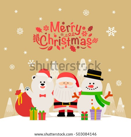 Vector illustration -Xmas card for Happy Christmas companions
