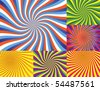 6 Vector Illustrations - Very Colorful Wave Backgrounds - stock photo
