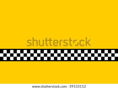 (Vector) Inspired by the famous New York Yellow Cabs, with plenty of copy space. A jpg version is also available. - stock vector