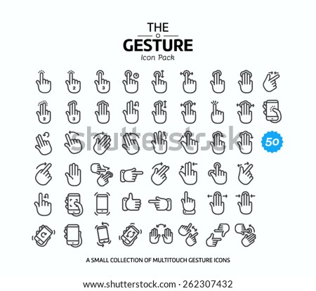 50 Vector line icons set for web design and user interface in applications made in flat graphic style. Nice detail and easily identifiable. Ideal for clean design. - stock vector