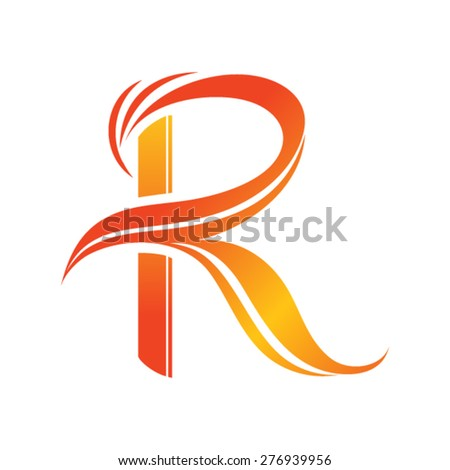 vector logo R letter - stock vector