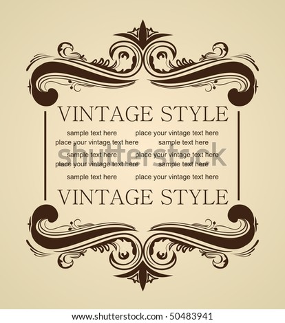 Vector luxury vintage for design
