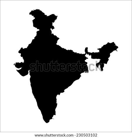 vector map of India with high details - stock vector
