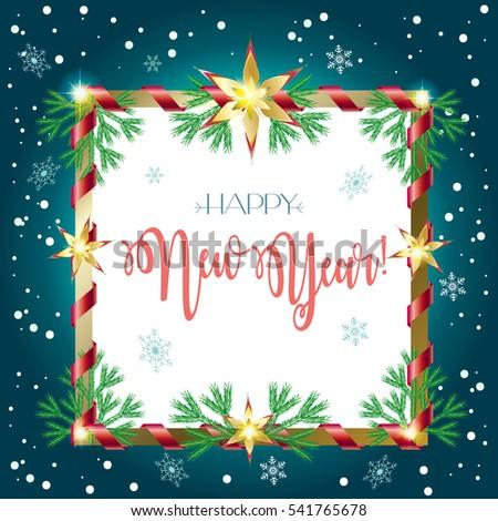 2017 Vector Merry Christmas Happy New Stock Vector 541765678 ...