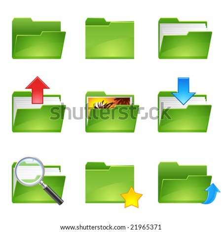 9 vector officer icons set1 - stock vector