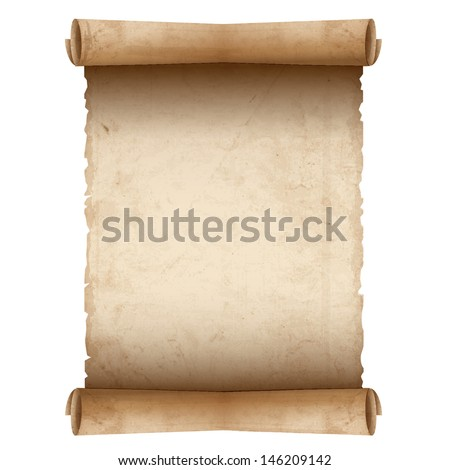 Vector old scroll paper  - stock vector