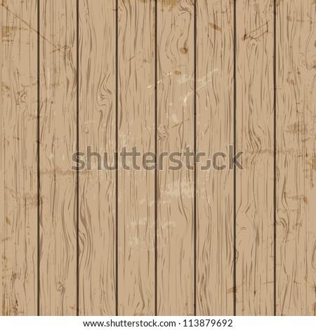 Vector old wooden texture - stock vector