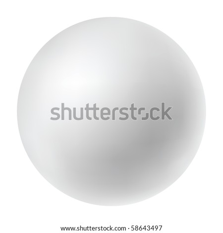 Vector pearl isolated in white background - stock vector