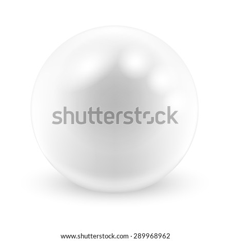 Vector Pearl on white background. Illustration.