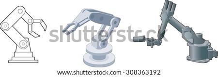 Vector Robot arms robot - stock vector