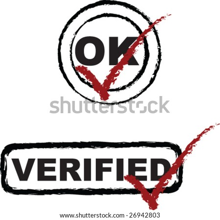2 vector rubber stamps of approval - stock vector