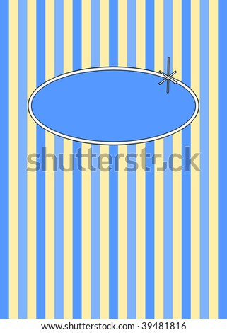 (Vector) 1950's retro candy stripes design with copy space. A Jpg version is also available. - stock vector