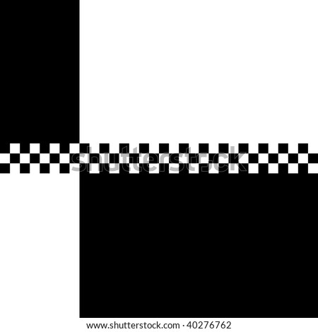 (Vector) 80s retro '2 Tone' checkerboard design with plenty of copyspace. A Jpg version is also available. - stock vector