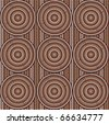 Vector seamless background aboriginal style (abstract symbolic design) - stock photo