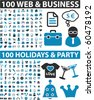 200 vector signs - web & business & holidays & party. vector - stock vector
