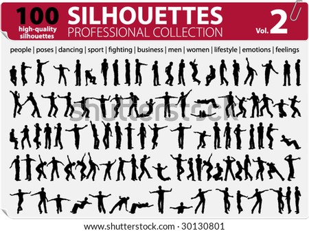 100 Vector Silhouettes Professional Collection Vol. 2 - stock vector