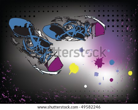 vector sneakers, gymshoes - stock vector