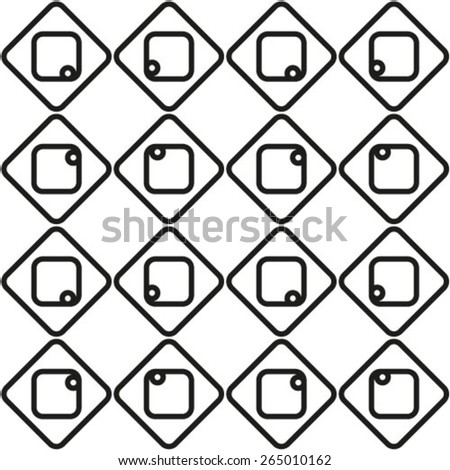 Vector texture background. Abstract seamless geometric monochrome diagonal pattern.  - stock vector