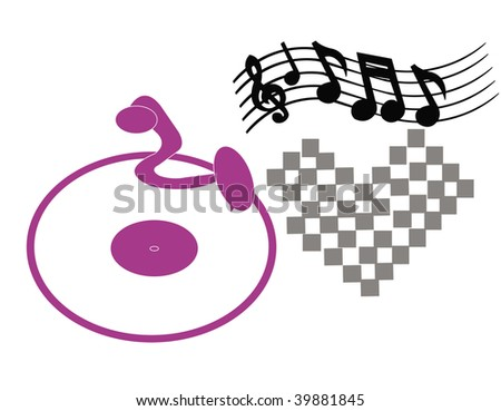 Vector Turntable Concept - stock vector