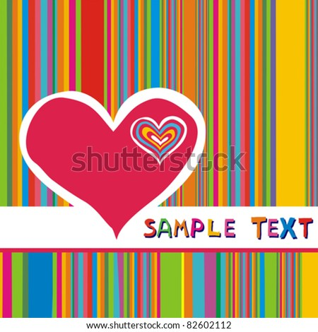 Vector Valentine's background with hearts and place for text. - stock vector