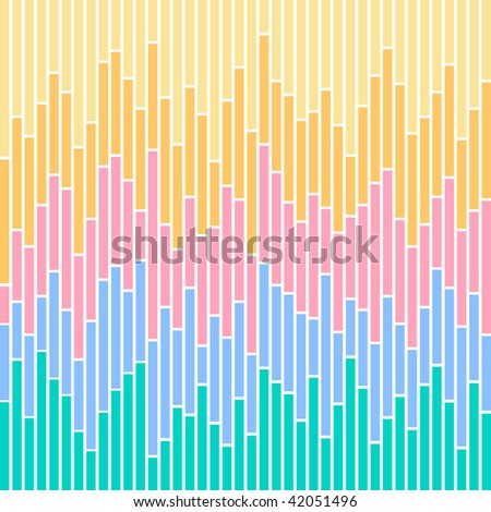 (Vector) Vertical stripes in pastel colours, based on bar charts. A jpg version is also available.