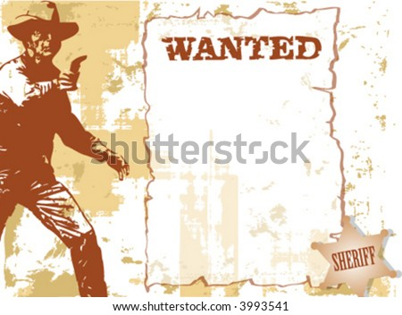 -vector-wanted - stock vector