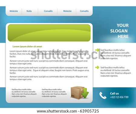 Vector web site design template - stock vector