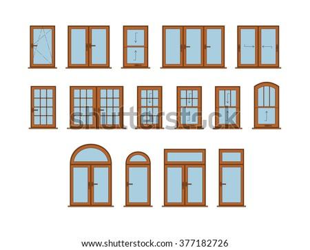 Set classic windows stock vector 364638887 shutterstock for Window design vector