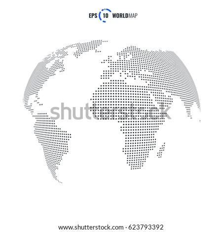 Vector world map globe template eps vector de stock623793392 vector world map globe template eps 10 gumiabroncs Gallery