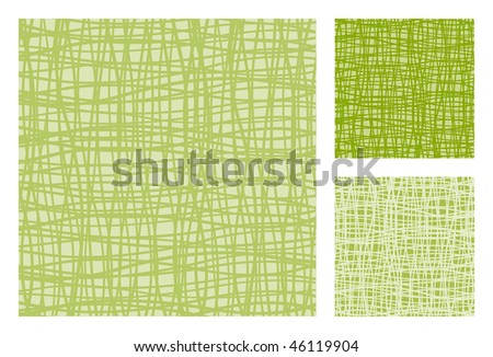 3 versions of abstract retro-patterns. Vector-Illustration - stock vector