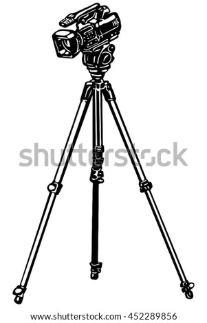 video camera on a tripod