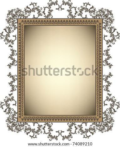 Vintage frame with floral ornament - stock vector
