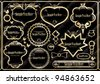 256 Vintage Gold frame.cdr - stock vector