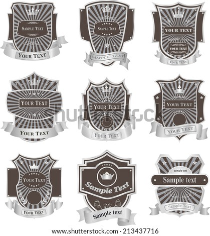 Vintage labels vector set - stock vector