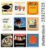 9 Vintage Matchbook Covers Vectors - stock vector