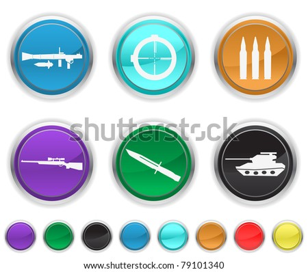 war icons,each icon is set on a different layer - stock vector