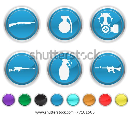 war weapons,the icons are set on a different layer - stock vector