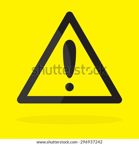 warning attention sign with exclamation mark symbol  - stock vector