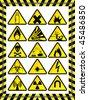 15 warning signs - stock vector