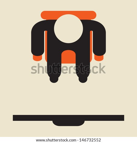 watching tv - Sedentary lifestyle - stock vector