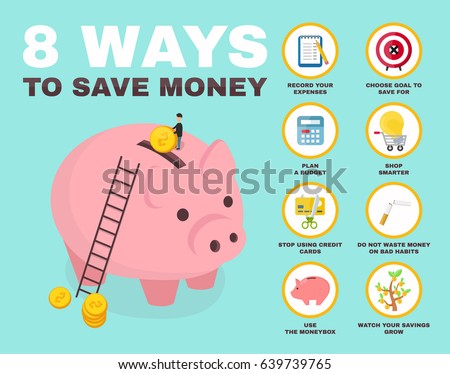 8 Way Save Money Infographic Pig 639739765