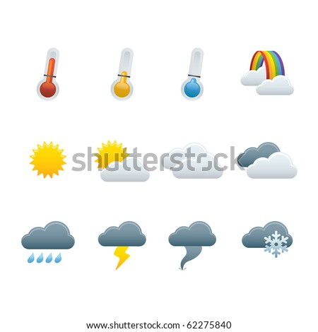 01 Weather Forecast Icons - stock vector