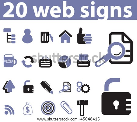 20 web signs. vector